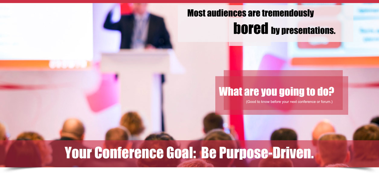 conferences many people can become inattentive and distracted during routine presentations even interesting subjects become sluggish when not presented properly
